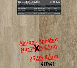Klick Vinyl Designboden Top-Lock 0,30 mm 41T441 Aktion
