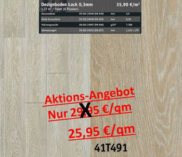 Klick Vinyl Designboden Top-Lock 0,30 mm 41T491 Aktion