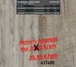 Klick Vinyl Designboden Top-Lock 0,30 mm 41T490 Aktion