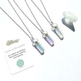 Angel Aura Quartz Amulet Necklace