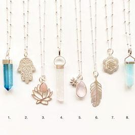 FLASH SALE: various Sterling Silver + Gemstone Amulets