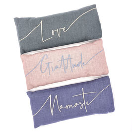 Embroidered Linen Lavender Eye Pillows