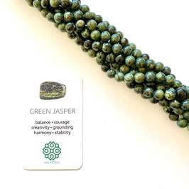 Green Jasper Beads