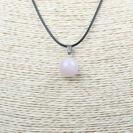 COLLIER QUARTZ ROSE  PIERRE NATURELLE