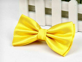 NOEUD PAPILLON JAUNE-OR 100% SOIE