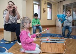Musikalische Früherziehung TONFORSCHER 2 (5-7 Jahre ohne Eltern) am SAMSTAG-MITTAG
