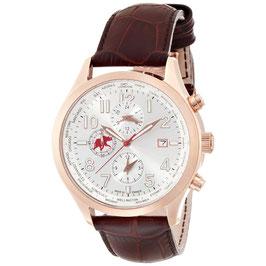 [ハンティングワールド]Hunting world 腕時計 タイムハンター 茶革 替えベルト付き ワールドタイマー クォーツ メンズ HW404BR メンズ 【正規輸入品】