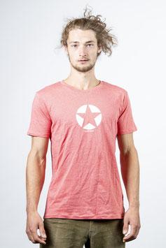 Shirt lachs meliert unisex