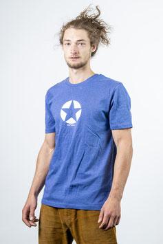 Shirt blau meliert unisex
