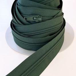 REIßVERSCHLUSS: dunkelgrün, Meterware, 3 cm breit