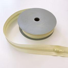 REIßVERSCHLUSS: beige, Meterware, 3 cm breit