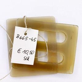 GÜRTELSCHNALLE beige, Breite 6 cm, Höhe 7 cm