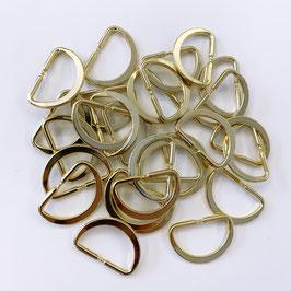 D-RINGE gold, 2,5 cm breit