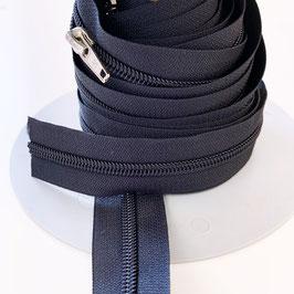 REIßVERSCHLUSS: dunkelblau, Meterware, 3 cm breit