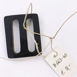 GÜRTELSCHNALLE: schwarz, Größe: Breite 4 cm, Höhe 5 cm