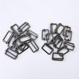 Leiterschnalle schwarz-silber, 2,5 cm breit