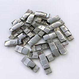 VERSCHLUSS-CLIPS silber; 1 cm breit