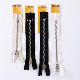 BELCO REIßVERSCHLUSS: schwarz / weiß / beige