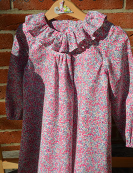 Robe manches longues 2 ans Liberty Wiltshire bud rose