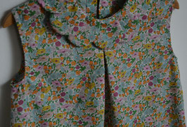 Robe six ans Liberty Poppy Forest col pétales.