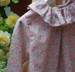 Blouse 4 ans Liberty betsy Ann rose manches longues