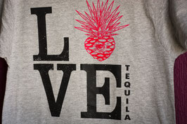 Gray T-shirt Love Tequila