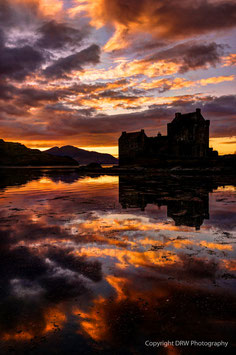 SUNSET IN LOCH DUICH