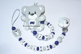 Attache-tétine + anneau de dentition G11
