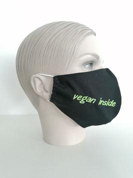 Fremdschutz - Rundmaske - vegan inside (einzeilig auf einer Seite)