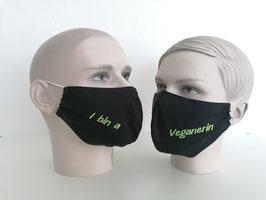 Fremdschutz - Rundmaske - I bin a Veganerin (einzeilig auf beiden Seiten)