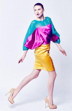 Sommerkleid Colorblocking