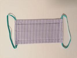 Fremdschutz Streifen - Faltenmaske für Damen und Herren