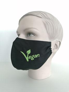 Fremdschutz - Rundmaske - I bin Vegan (einzeilig auf beiden Seiten)