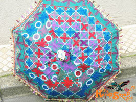 インド刺繍カラフル日傘L
