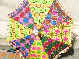 インド刺繍パッチワーク日傘H