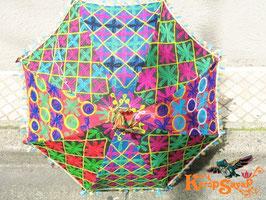 インド刺繍パッチワーク日傘1G