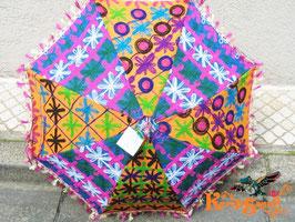 インド刺繍パッチワーク日傘E
