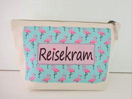 Baumwolltasche Reisekram Flamingo natur (1288)