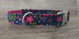Halsband 2,5 cm (1073) petrol-pink