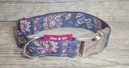 Halsband 3 cm (1242) flower & jeans