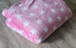 Kuscheldecke Sterne rosa