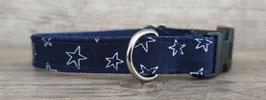 kleines Halsband Sterne dunkelblau (671)