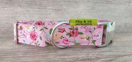 Halsband 3 cm (1080) Blumenwiese rosa