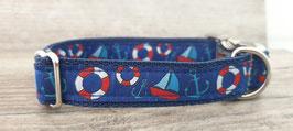 Halsband 2 cm (1062) maritime Motive II blau