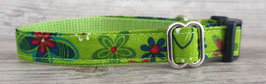 kleines Halsband grün geblümt (657)
