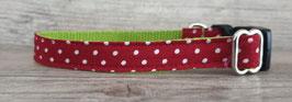 kleines Halsband rot Punkte (655)