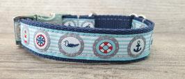 Halsband 2 cm (739) maritime Motive dunkelblau
