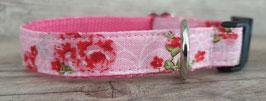 kleines Halsband rosa Rosen (659)