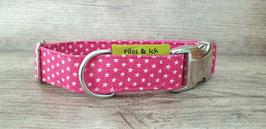 Halsband 2,5 cm (1067) Sterne pink