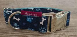 Halsband 3 cm (1181) Blumenwiese Bones & Paws